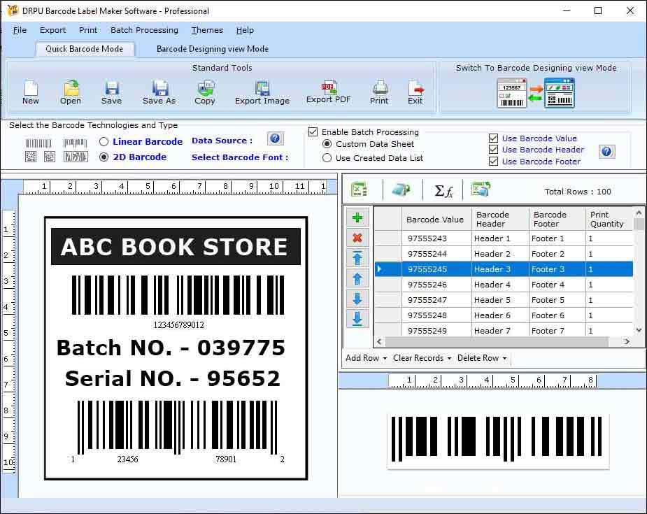 Windows 7 Barcode Software 7.3.0.1 full